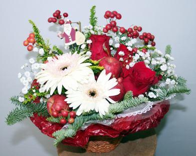 クリスマスカラーのパリスタイル【生花 アレンジ】【クリスマス】