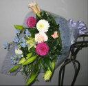上品で明るい色合いでおなぐさみしたいときに【花束】【生花】【お供】