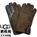 ショッピンググローブ UGGアグ シープスキン サイド タブ テック グローブ 男性用 UGG SHEEPSKIN SIDE TAB TECH GLOVE 18713 メンズ 手袋 チョコレート (01-22640278)