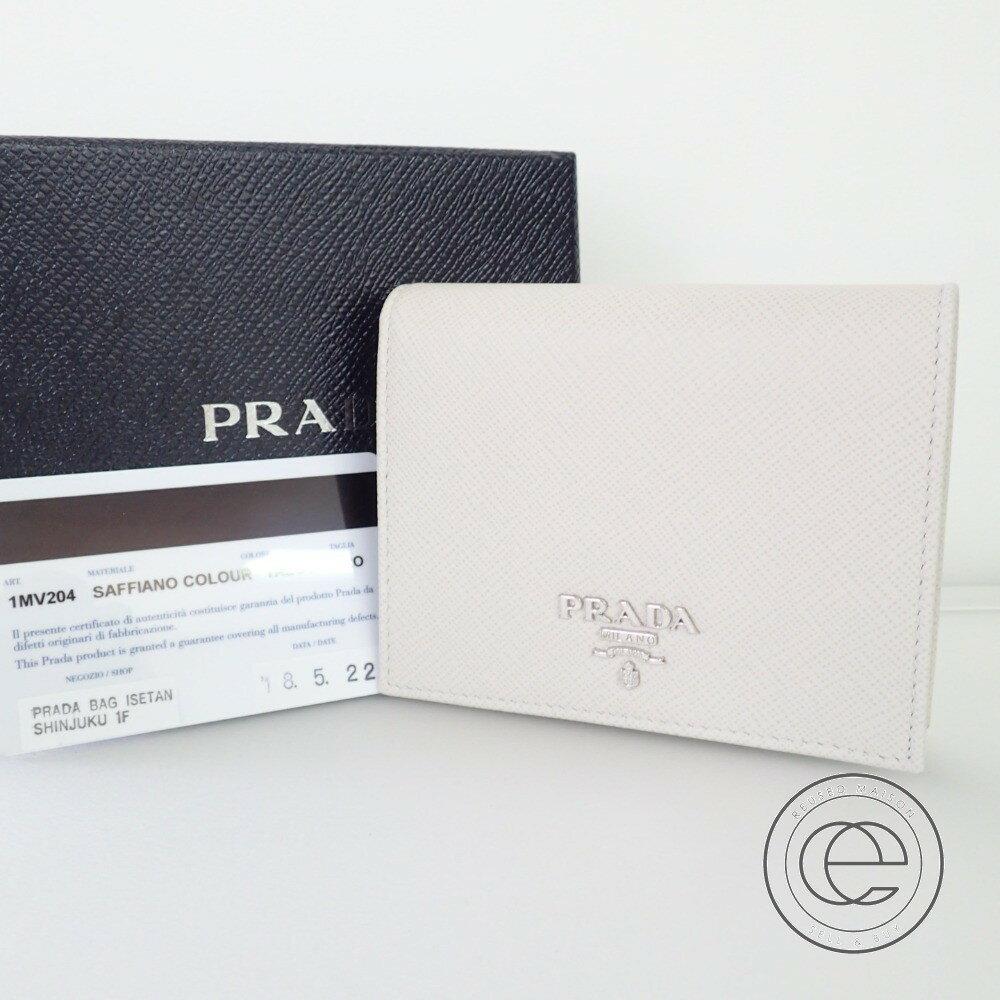 7b962b6cb477 PRADA【プラダ】1MV204 2つ折りコンパクトウォレット オンライン サフィアーノ二つ折り財布(小銭入れあり)レディース【】:ブランドリサイクル  エコスタイル