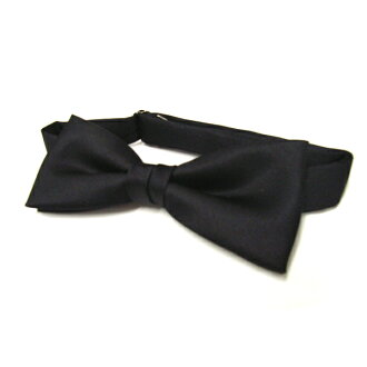 bowtie / for men / black / silk 100% / made in Japan / * this is not free shipping.