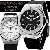自動巻き腕時計 メンズ 送料無料 1年保証 全2色 メンズ腕時計 自動巻き腕時計 ビッグフェイス自動巻き腕時計 1年保証&BOX付き 0825 10P01Oct16 1010