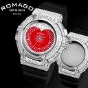 腕時計 メンズ レディース ブランド ポイント10倍 1年保証 正規 ROMAGO ロマゴ スワロフスキー ビッグフェイス 腕時計 BOX 保証書付 10P03...
