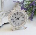 スタイルロココ シャビーホワイトの置時計 シェルクロック♪ 置時計 小型 白色 シャビーシック フレンチカントリー アンティーク 雑貨 アンティーク風 姫系 antique
