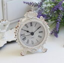 RoomClip商品情報 - シャビーホワイトの置時計 シェルクロック♪ 置時計 小型 白色 シャビーシック フレンチカントリー アンティーク 雑貨 アンティーク風 姫系 antique