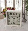 スタイルロココ PARISボックスクロック 置時計 掛時計 クォーツ時計 白色 シャビーシック フレンチカントリー アンティーク 雑貨 アンティーク風 姫系 antique