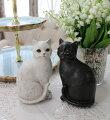 スタイルロココ アンティークキャットの置物(2個セット) 猫 オブジェ かわいい シャビーシック アンティーク 雑貨 アンティーク風 輸入雑貨 antique shabby chic