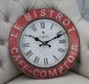 フランスから届いたお洒落な掛け時計・BISTRO 【SOPAFRA】 掛け時計 フレンチ雑貨 フレンチカントリー アンティーク風 カフェ風
