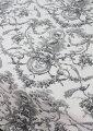 スタイルロココ フランス製 トワルドジュイ柄 貴婦人ブランコ オフホワイト×ブラック系 THEVENON社 【輸入生地 カーテン生地 テーブルクロス ファブリック カルトナージュ カット販売】