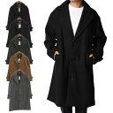 【あす楽対応】チェスターコート ビッグシルエット オーバーサイズ メルトンウール コート アウター メンズ ブラック チャコール グレー ネイビー キャメル