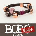 Bobo Milano|ボボミラノ GISELE ゴールド・ピンク・ブロンズカラー レザー ブレスレット