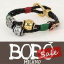 Bobo Milano|ボボミラノ MAXENCE シルバー・ゴールド レザー ブレスレット