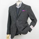 Style Edition|スタイルエディション Harris Tweed ハリスツィード ヘリンボーン ミディアムグレー 2ボタン ジャケット