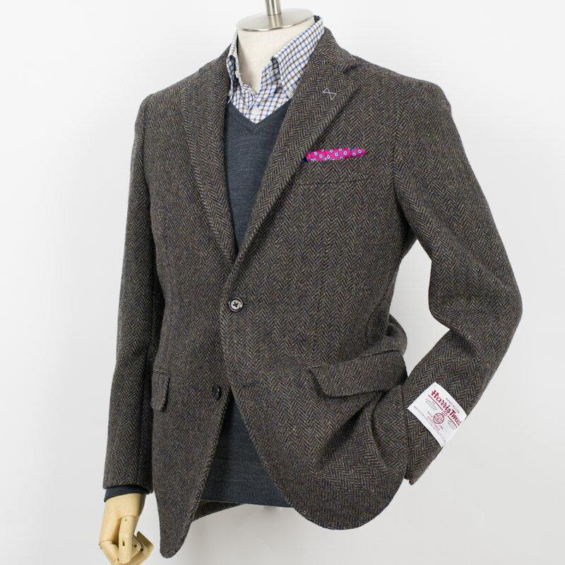 Style Edition|スタイルエディション Harris Tweed ハリスツィード ヘリンボーン カーキブラウン ジャケット