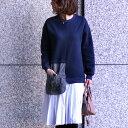 「formom」 *残りわずか*一枚で素敵にスタイリング♪裾プリーツファーポケットワンピママ/ママコーデ/フェイクファーポケット/S/M/L...