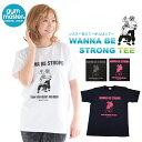 【最大10%OFFクーポン対象】 ジムマスター Tシャツ 半袖 WANNA BE STRONG Tee 男女兼用 tシャツ プリント 半袖 ホワイト メンズ レディース ユニ S M L LL 【gym master】
