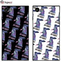 【再入荷予定なし】iPhone SE(2020年モデル),iPhone 8,7ケース MILKBOY <strong>ミルクボーイ</strong>スクエアガラスケース Riot Rabbitsパターン。Gizmobies ギズモビーズアイフォンカバー。ファッションブランドオリジナル プレゼント付き