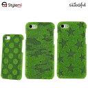 送料無料!ShibaCAL シバカル iPhone 8 , 7 ケース 大きめドットとカムフラージュ スターズの3柄。絵付きの芝生がユニークなアイフォンカバー プレゼント付