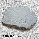 玄武岩 飛石 飛び石 黒 ステップストーン 約300-400mm