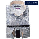 リバティプリント タナローン ドレスシャツ ワイシャツ シャツ メンズ 国産 長袖 綿100% コンフォート カッタウェイワイドカラー グレーフラワー fs3gm 1807