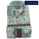 リバティプリント タナローン ドレスシャツ ワイシャツ シャツ メンズ 国産 長袖 綿100% コンフォート ボタンダウン プリント ボタニカル グリーン レッド ブルー 1907 fs3gm