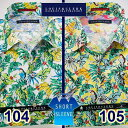 1607 綿麻国産半袖ドレス・アロハシャツ ワンピースワイドカラー トロピカルバナナ柄プリント 2色展開メンズ fs3gm 派手 個性的 オ..