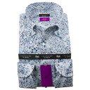 リバティプリント タナローン ドレスシャツ ワイシャツ シャツ メンズ 国産 長袖 綿100% コンフォート ボタンダウン アデラジャ fs3gm