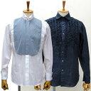 国産長袖ドレスシャツ 綿100or麻100 スリムフィット 柄選択有メンズ fs3gm