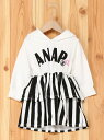 【SALE/50%OFF】ANAP KIDS ANAPKIDSストライプ切替ねこ...