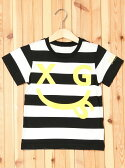 X-girl Stages STRIPED S/S TEE SMILE(4T-7T) エックスガールステージス【送料無料】