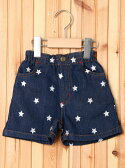 X-girl Stages SHORT PANTS STAR EMBROIDERY (4T~7T)/パンツ エックスガールステージス【送料無料】