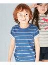 【SALE/50%OFF】HusHusH(Kids) 【抗菌防臭】【150cmまで】クルーネックボーダーTシャツ ハッシュアッシュ カットソ...