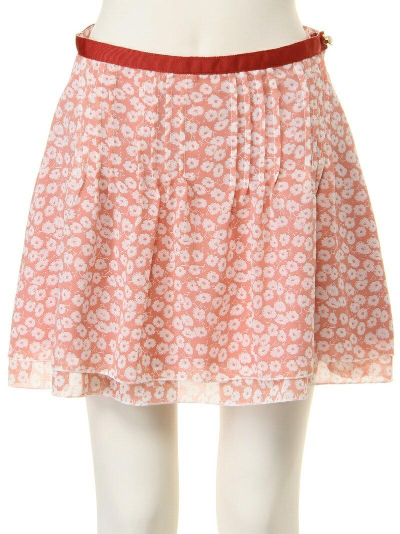 【SALE/60%OFF】Pinky Girls フラワープリントタックミニスカート ブランドアベニュー アウトレット スカート【RBA_S】【RBA_E】