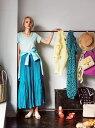 【SALE/70%OFF】The Virgnia クリンクルカラーマキシスカート ザ ヴァージニア スカート ロングスカート グリーン ブルー ピンク【送料無料】