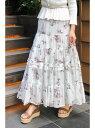 【SALE/44%OFF】JILLSTUART ◆《EndyROBE》オリビアティアードプリントスカート ジルスチュアート スカート スカートその他【送料無料】