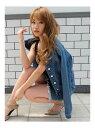 【SALE/66%OFF】RESEXXY ノーカラーデニムジャケット リゼクシー コート/ジャケット デニムジャケット ブルー ブラック