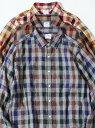 【SALE/20%OFF】coen ウインターリネンチェックシャツ(WEB限定サイズXS有り) コーエン シャツ/ブラウス 長袖シャツ グレー ホワイト ブラウン