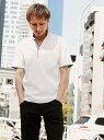 NICOLE CLUB FOR MEN スキッパ-ポロシャツ ニコル カットソー ポロシャツ ホワイト ブラック ブルー ネイビー パープル【送料無料】