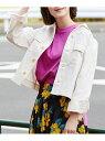【SALE/60%OFF】ROPE' PICNIC カジュアルシャツジャケット ロペピクニック コート/ジャケット ブルゾン ホワイト ベージュ ネイビー
