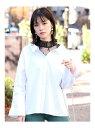 【SALE/71%OFF】MURUA レースタンクコンビシャツ ムルーア シャツ/ブラウス 長袖シャツ ホワイト ベージュ