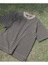 【SALE/50%OFF】JOURNAL STANDARD relume 16/- BORDER TEE DYED ジャーナル スタンダード レリューム カットソー Tシャツ ブラウン グレー ホワイト ブルー