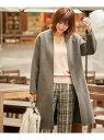 ICB L Wool Rever ノーカラーコート アイシービー コート/ジャケット【送料無料】