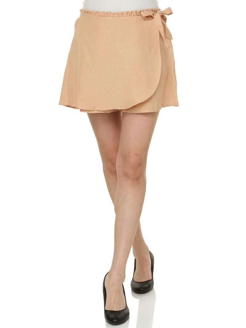 【SALE/90%OFF】Vert Dense リネン混デザインショートパンツ ブランドアベニュー アウトレット パンツ/ジーンズ【RBA_S】【RBA_E】