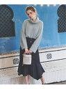 Noela アシメフレアヘムスカート ノエラ スカート タイトスカート ブルー ピンク ベージュ【送料無料】