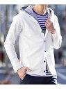 【SALE/55 OFF】MK MICHEL KLEIN パーカー(スパンポリインレー) ミッシェルクランオム カットソー パーカー ホワイト カーキ ネイビー【送料無料】