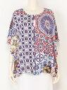 【SALE/50%OFF】Desigual ブローズショート袖 デシグアル シャツ/ブラウス 半袖シャツ ブルー【送料無料】