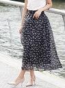 【SALE/49%OFF】GIORDANO [GIORDANO]シアーパターンロングスカート ジョルダーノ スカート ロングスカート ブラック パープル ホワイト
