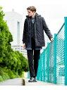【SALE/40%OFF】JOSEPH ABBOUD 【3WAY】ADSインターレースジャガードコート ジョセフアブード コート/ジャケット ダウンジャケット ネイビー グレー【送料無料】
