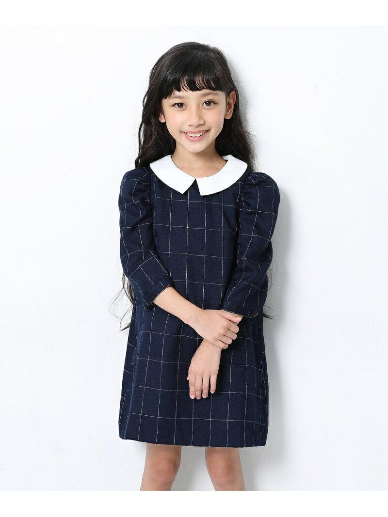 devirock子供服キッズフォーマル入園入学卒園卒業襟付きパワショルワンピース女の子ベビートップス