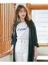 any SiS 【L'aube】ロゴTシャツ エニィスィス カットソー Tシャツ ホワイト